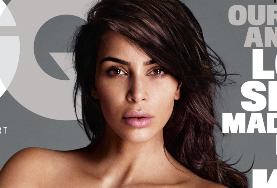Kim Kardashian Poses Nude, Naturally, On Her First-Ever GQ Cover