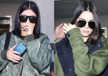 """Kendall & Kylie Jenner kommen nur einen Tag nach der Modenschau """"Balmain x H & M"""" in LA an"""